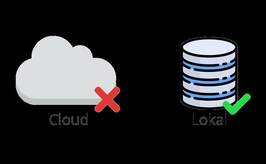<b>Lokale</b> Datenspeicherung